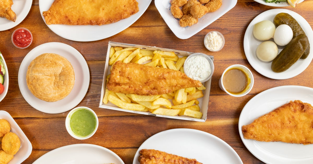 Docklands fish and chips delivery from the docks order for Docks fish menu