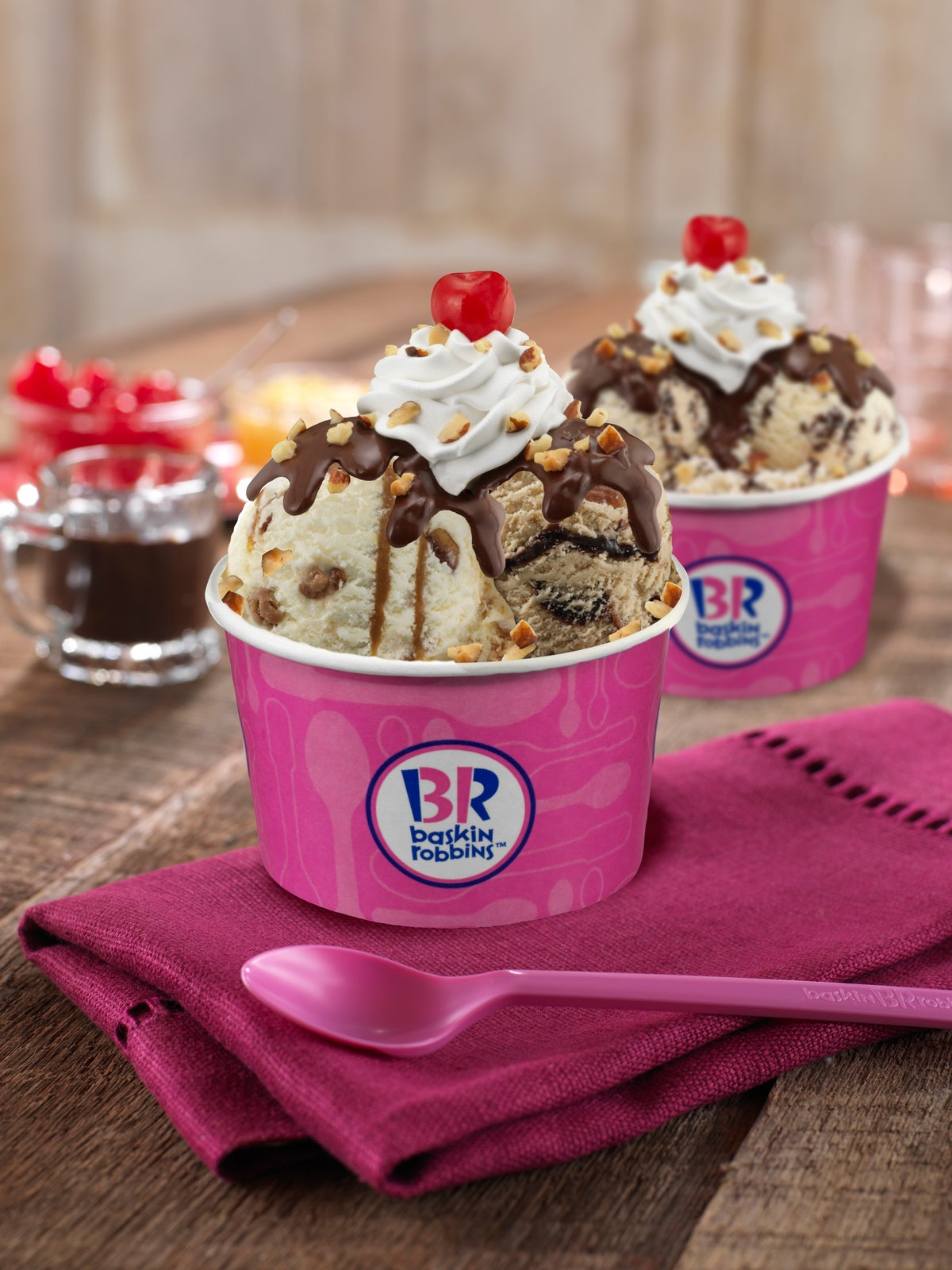 baskin robbins Baskin-robbins was founded in 1945 in glendale, california by burton baskin and irvine robbins, ice cream enthusiasts and brothers-in-law, whose passion inspired what is now the world's largest chain of ice cream specialty shops.