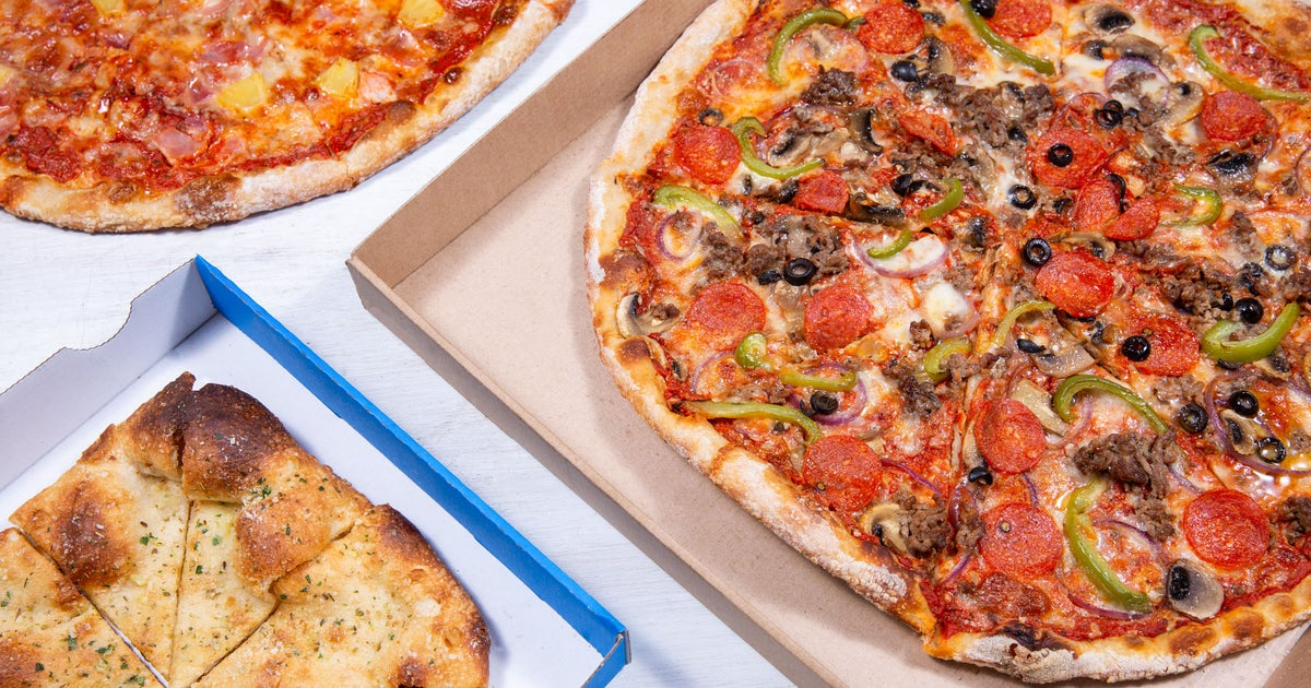 pizza pan delivery from winchester order with deliveroo. Black Bedroom Furniture Sets. Home Design Ideas