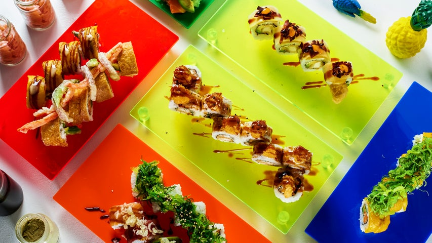 A preview of Tropical Sushi's cuisine